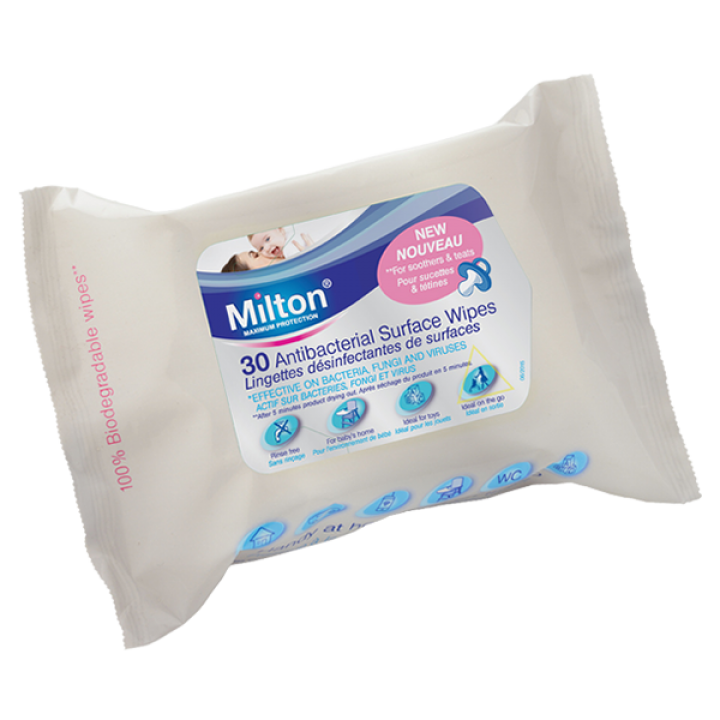 Milton Antibacterial Surface Wipes - 30 wipes
